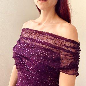 Tadashi Sleeveless sequence Cocktail Dress. Xsmall